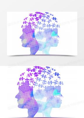 抽象创意科技人物头像