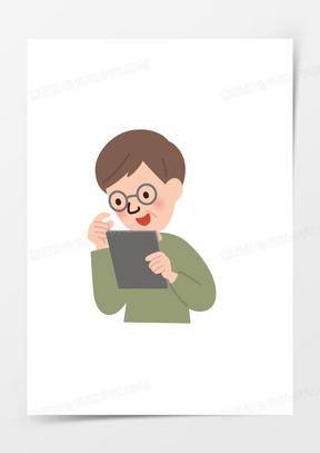 卡通人物图片手绘卡通小人素材 卡通扁平商务小人