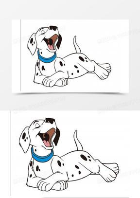 卡通卡通图案 卡通斑点狗