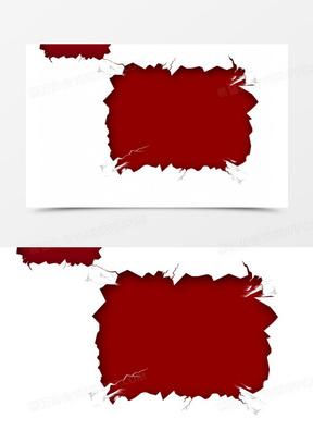 红色破洞图案