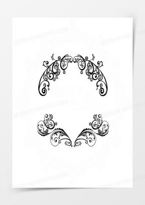 黑色花纹婚礼logo