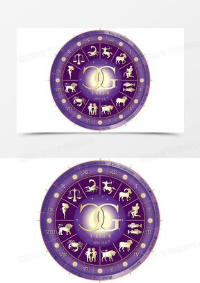 矢量十二星座婚礼logo
