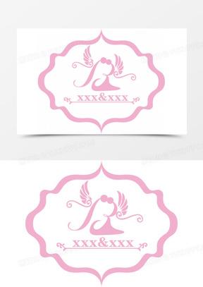 矢量创意婚礼logo