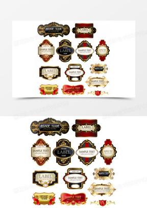 贵族商标英伦皇家复古鎏金