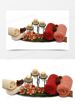 蜡烛与毛巾图片