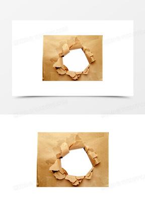 漂亮的破洞纸免抠图素材