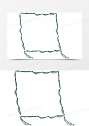边框卡通卡通素材 卡通手绘方框