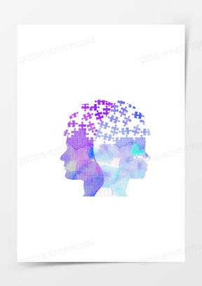 抽象几何人物头像
