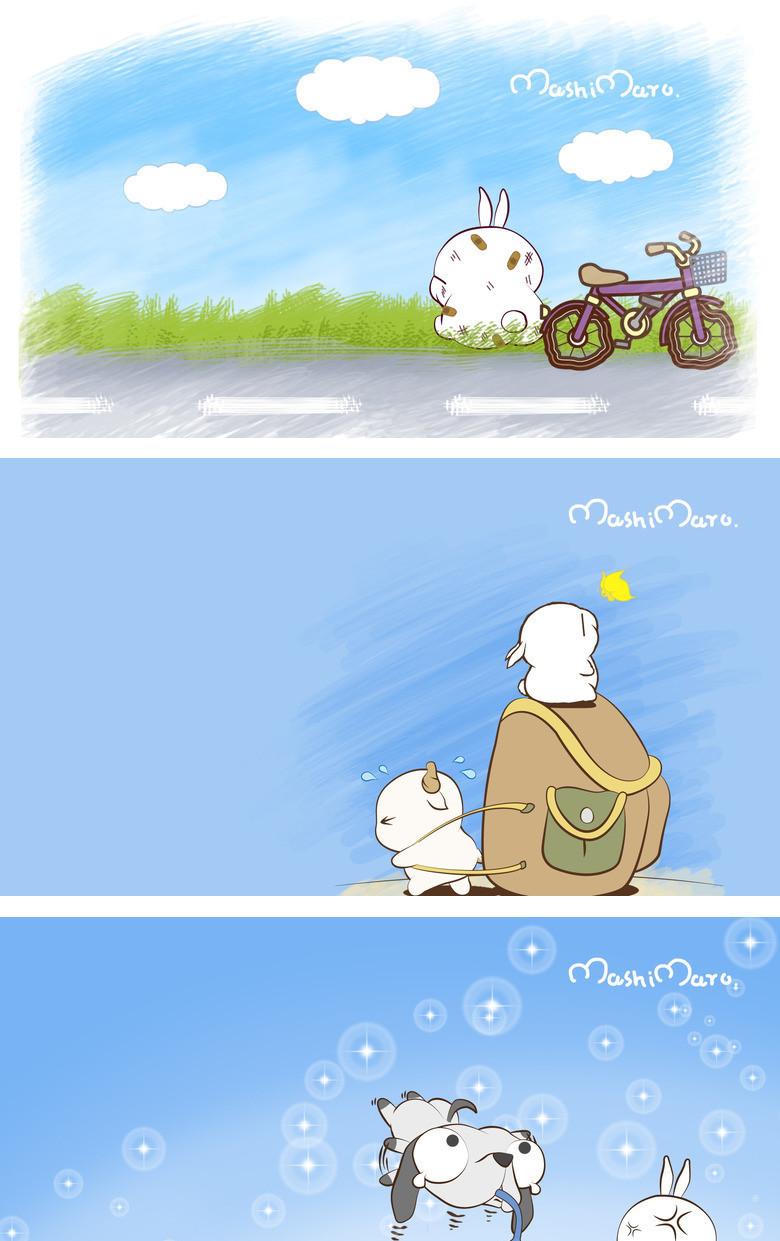 本作品内容为可爱的流氓兔ppt背景图片, 格式为 jpg, 大小2 mb, 图片