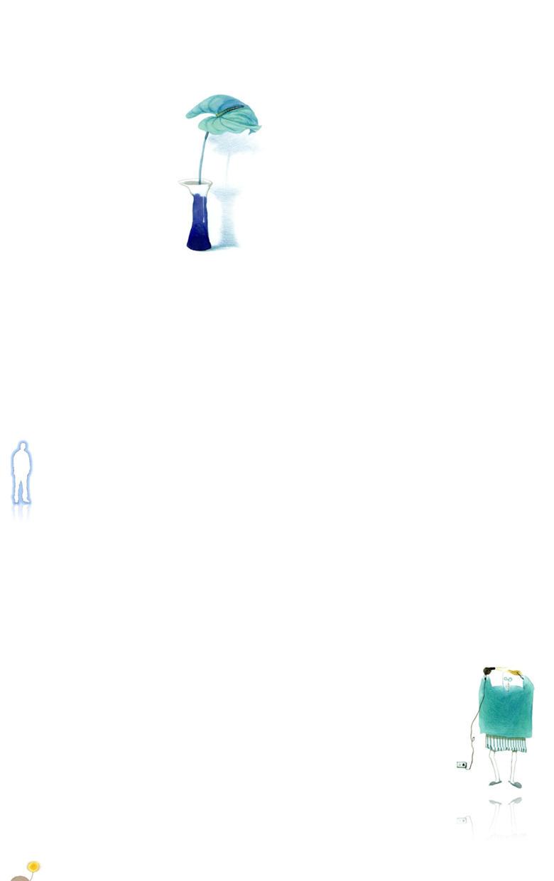 小清新手绘水彩画PPT背景图片