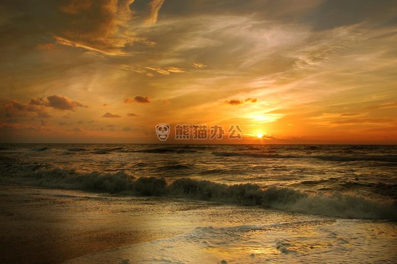 ppt配图 自然风景 海滩 美丽的 云  免费下载 收藏 0+1 12 0 模板评分