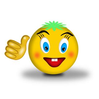 可爱微笑表情图片ppt配图下载_熊猫办公