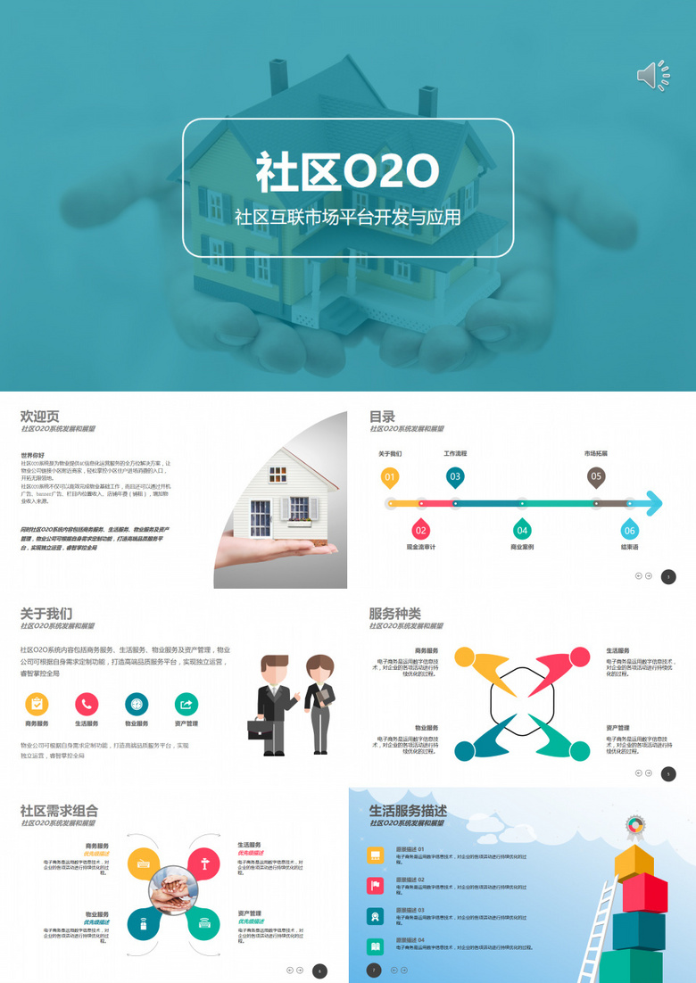 社区物业o2o系统策划营销计划书PPT模板下载 53页 其他熊猫办公