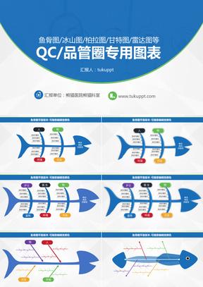 2019实用品管圈QC专用图表-鱼骨图柏拉图冰山图甘特图等商务通用PPT模板