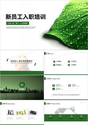 2019清新大气企业新员工入职培训企业培训课件通用PPT模板