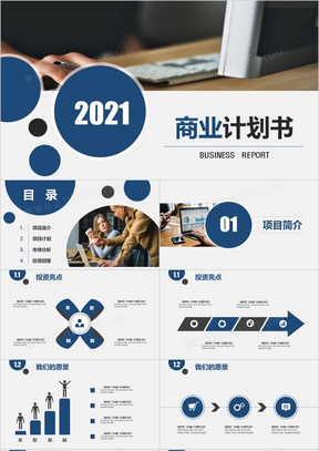 2021年通用商业计划书ppt模板