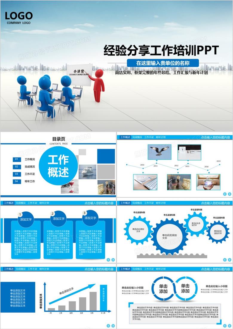 经验分享工作培训动态PPT模板