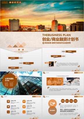 创业商业融资计划书
