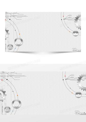 机械齿轮科技简约商务科技背景