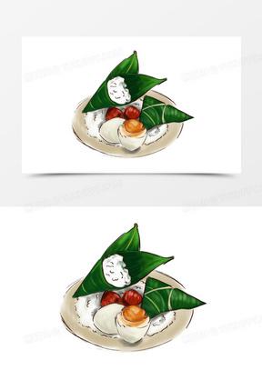 粽子咸鸭蛋端午节组合手绘元素