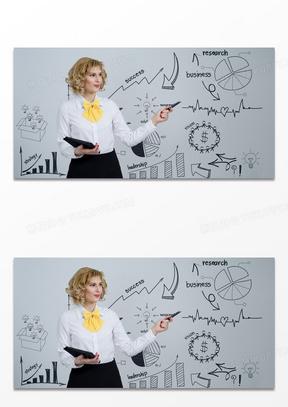 创意讲座开会讲解数据商务背景