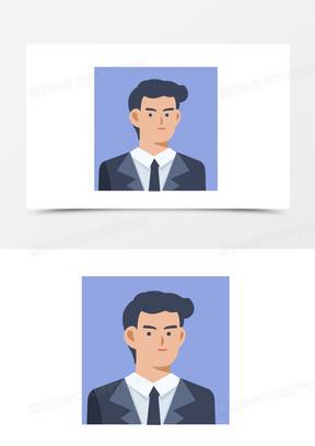 扁平风简约卡通办公商务男头像