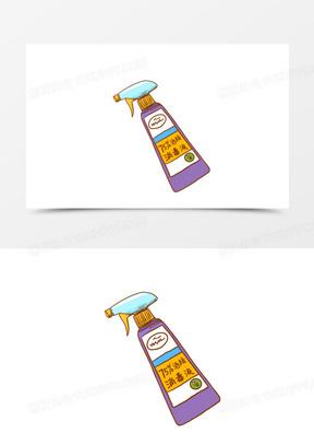 卡通手绘消毒瓶免抠元素