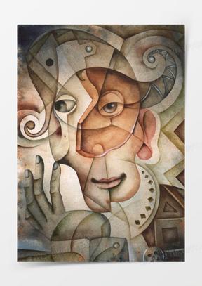 创意抽象人物肖像画