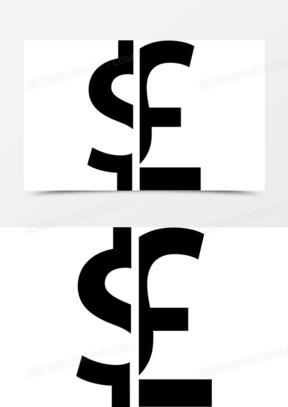 美元英镑货币金钱的象征图标