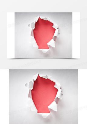 纸张破洞背景