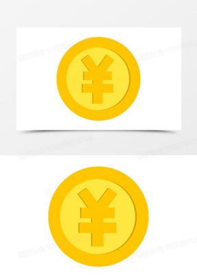 手绘矢量金币货币图标元素