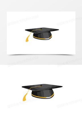 卡通矢量学士帽素材