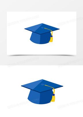 卡通手绘学士帽子元素