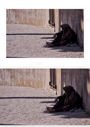 乞丐 乞求 无家可归