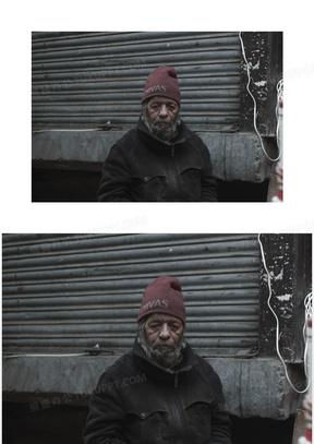 老年人 乞丐 古老的