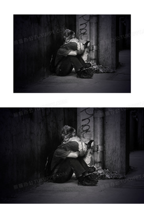 被遗弃的 成人 乞丐