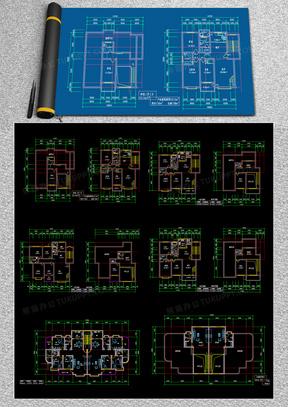 100例室内平面别墅复式特殊户型设计方案CAD图纸