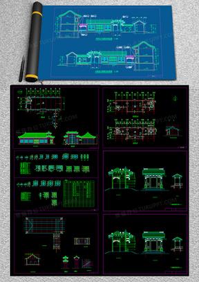 北京四合院精品古建筑CAD施工图