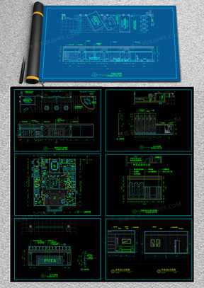 豪华办公空间设计CAD施工图