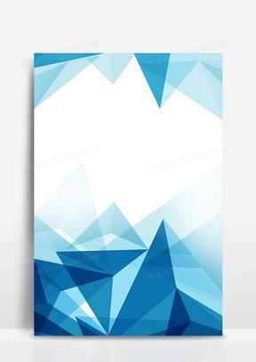 蓝色几何商务风简约背景