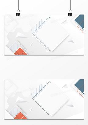 商务简约立体几何图形大气商务背景