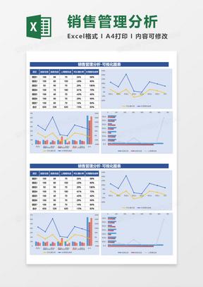 销售管理分析-可视化图excel模板