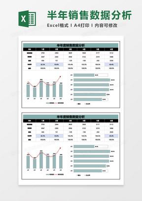 半年度销售数据分析表excel模板