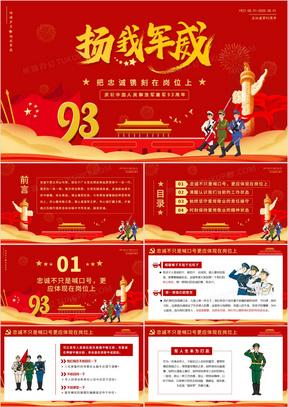 扬我军威把忠诚镌刻在岗位上庆祝中国人民解放军建军93周年PPT模版