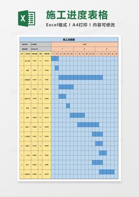 施工计划表甘特图Excel模板