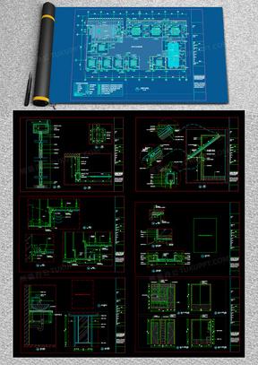 豪华四合院装修施工图纸CAD图纸