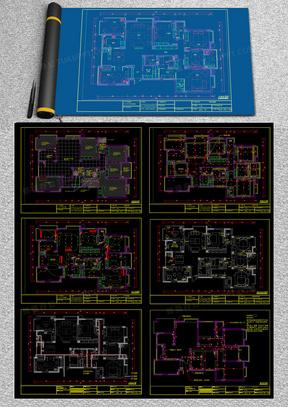 简装施工室内家装施工图cad图纸