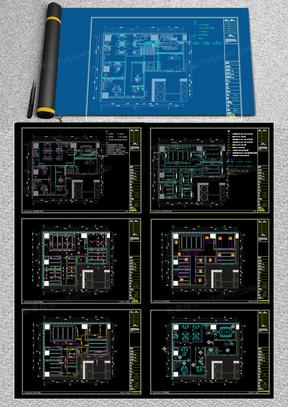 品质办公户型样板间装修设计方案CAD施工图