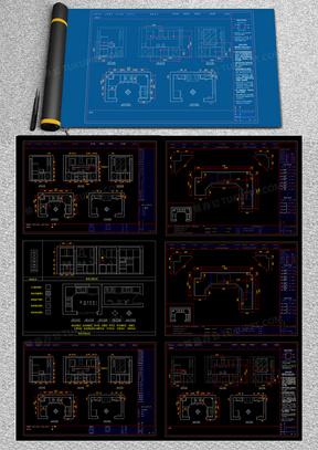 全屋定制CAD图纸橱柜图纸