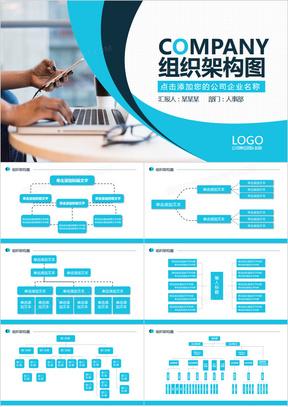 企业组织架构图大全PPT模板